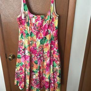 Like New Floral Sleeveless Spring Dress